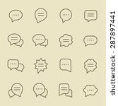 speech bubble line icon set | Shutterstock .eps vector #287897441