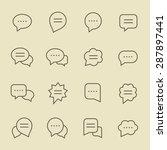 speech bubble line icon set | Shutterstock .eps vector #287897441