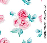 floral seamless pattern of... | Shutterstock . vector #287897861