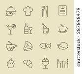 restaurant icon set | Shutterstock .eps vector #287898479