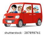 family car driving  side view | Shutterstock .eps vector #287898761