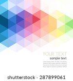 vector illustration abstract... | Shutterstock .eps vector #287899061