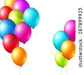 vector color balloons in white... | Shutterstock .eps vector #287899925