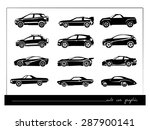 cars silhouettes collection | Shutterstock .eps vector #287900141