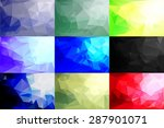 abstract polygonal background... | Shutterstock .eps vector #287901071