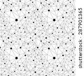 black white abstract geometric... | Shutterstock .eps vector #287901365
