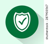 shield sign icons  vector... | Shutterstock .eps vector #287903567