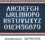 Vintage American Font On Retro...