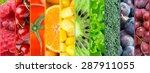 healthy food background.... | Shutterstock . vector #287911055