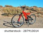 modern red full suspension... | Shutterstock . vector #287913014