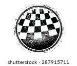 Checkered Race Flag Grunge...