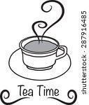 tea time | Shutterstock .eps vector #287916485