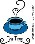 tea time   Shutterstock .eps vector #287916554