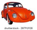Orange Beetle Isolated With...