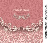 vintage background with... | Shutterstock .eps vector #287921021