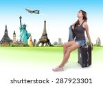 concept traveler woman | Shutterstock . vector #287923301