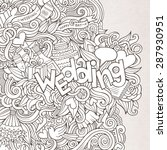 wedding hand lettering and... | Shutterstock .eps vector #287930951