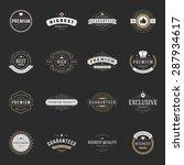 retro vintage premium quality... | Shutterstock .eps vector #287934617