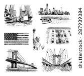 hand drawn new york city...   Shutterstock .eps vector #287939384