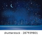 vector winter wonderland night... | Shutterstock .eps vector #287939801