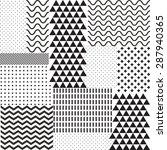 mix geometric seamless pattern. ... | Shutterstock .eps vector #287940365