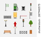 Vector Street Element Icons Se...