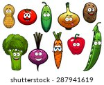 cartoon vegetables characters... | Shutterstock .eps vector #287941619