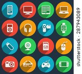 gadget icons set. phone and... | Shutterstock .eps vector #287943089