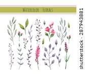 watercolor floral collection... | Shutterstock .eps vector #287943881