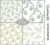 set of seamless pattern... | Shutterstock .eps vector #287944931