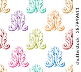 seamless pattern backgrounds.... | Shutterstock .eps vector #287949611