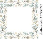 floral frame   Shutterstock .eps vector #287950277