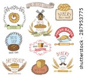 bread bakery.vintage retro... | Shutterstock .eps vector #287953775