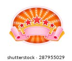 emblem logo for show circus or...   Shutterstock .eps vector #287955029