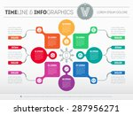 web template for circle diagram ... | Shutterstock .eps vector #287956271
