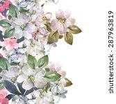 Flowers Of Apple Seamless...