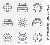 line icons style car icons set  ... | Shutterstock .eps vector #287967521