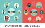 social network vector voncept.... | Shutterstock .eps vector #287968187