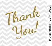 thank you card | Shutterstock .eps vector #287969129