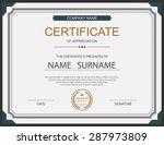 vector certificate template. | Shutterstock .eps vector #287973809