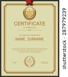 vector certificate template. | Shutterstock .eps vector #287979239