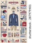 gentleman and hipster... | Shutterstock .eps vector #287979401