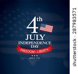 independence day 4 th july.... | Shutterstock .eps vector #287983571