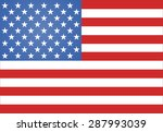 american flag illustration | Shutterstock . vector #287993039