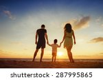 family of three person is... | Shutterstock . vector #287995865