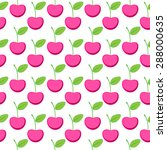 seamless pattern with berry...   Shutterstock .eps vector #288000635