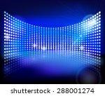 the led screen. vector... | Shutterstock .eps vector #288001274