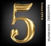 vector 3d golden number... | Shutterstock .eps vector #288009494