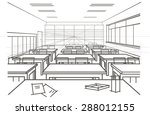 linear architectural sketch... | Shutterstock .eps vector #288012155