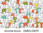 seamless pattern with the image ... | Shutterstock .eps vector #288013859